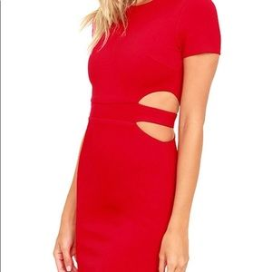 Lulu's red cut out cocktail dress